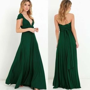 Dresses & Skirts - Dark Green Maxi Long Dress